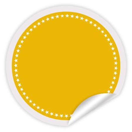Blank sticker illustration illustration