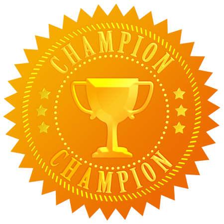 Champion gold seal Stock Photo - 9849869
