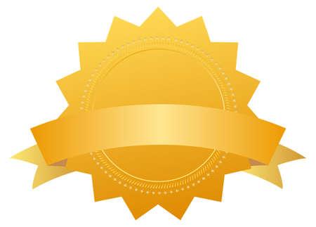 Blank award medal with ribbon Stock Photo - 9849785