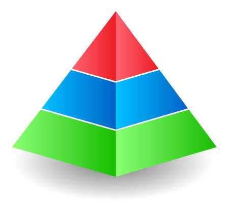 Three colour pyramid Stock Photo - 9849788