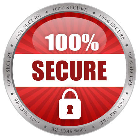 Secure shiny icon Stock Photo - 9849865