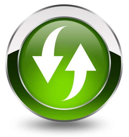 refrescarse: Actualizar brillante botón de Foto de archivo