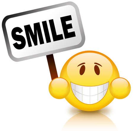 positiveness: Smiley feliz Foto de archivo