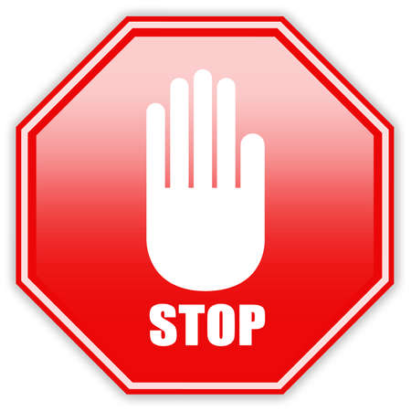 safety signs: Stop hand sign