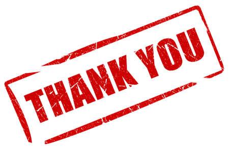 gratefulness: Thank you stamp Stock Photo