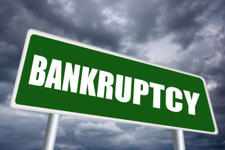 slump: Bankruptcy sign Stock Photo