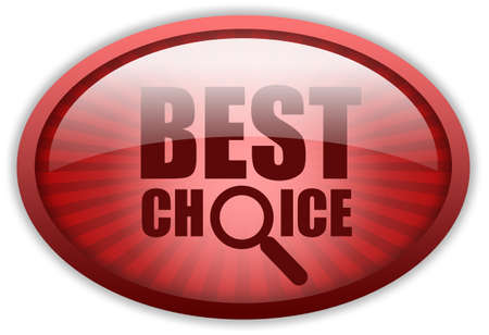 Best choice red button Stock Photo - 9986638