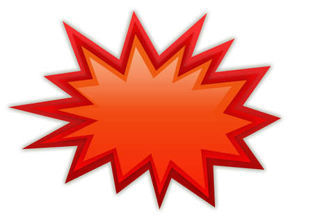 boom: Boom splash red icon Stock Photo