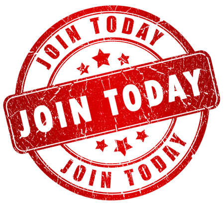 Join us today stamp Stock Photo - 9986651