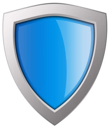 Blue shield illustration Stock Illustration - 9986634