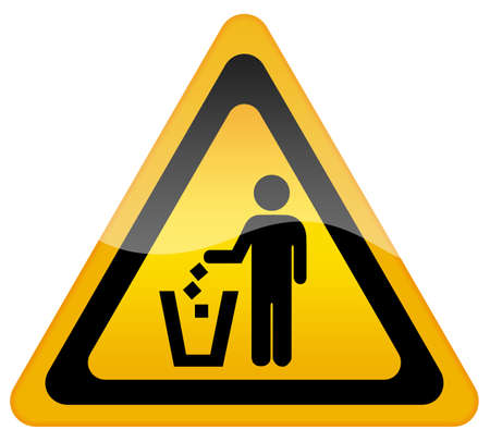 botar basura: No ensuciando, mantener limpio signo