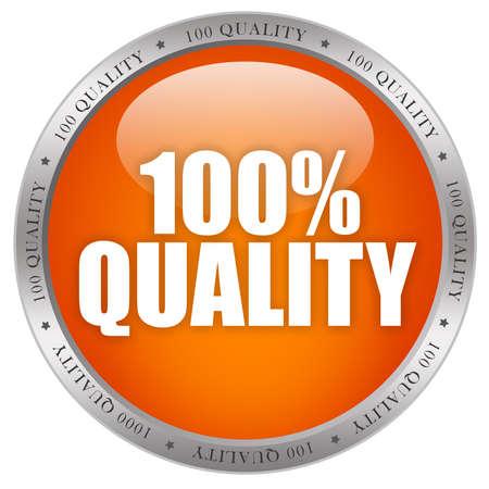 certification: bot�n brillante calidad 100 Foto de archivo