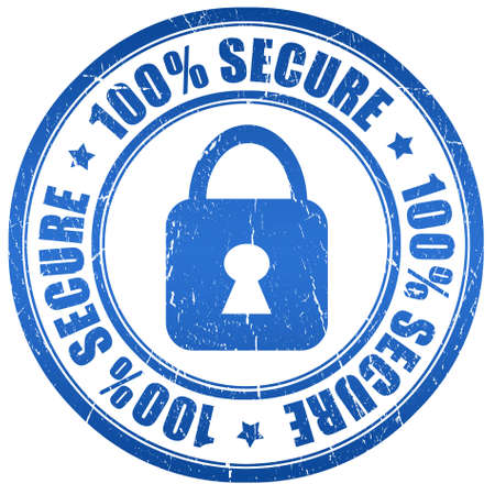 100 secure stamp Stock Photo - 9986649
