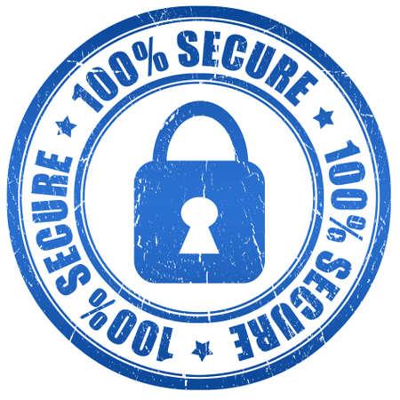 timbre sécurisé 100 Banque d'images
