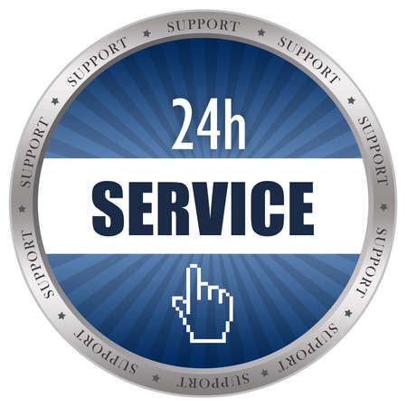 Service icon isolated on white photo