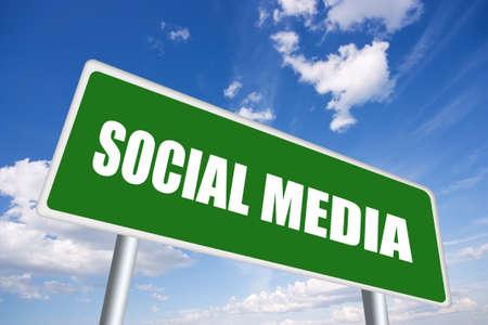 Social media sign photo