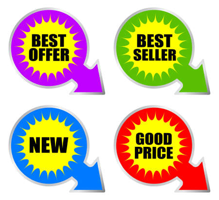 Business stickers set Stock Photo - 9986663