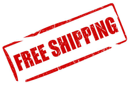free icon: Free shipping stamp Stock Photo