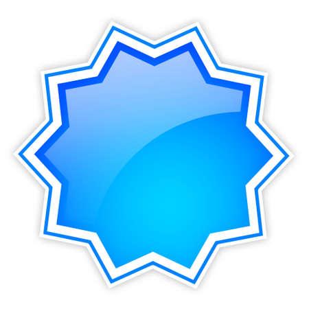 Blank shiny star icon Stock Photo - 9986656