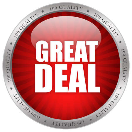 Great deal glossy icon photo