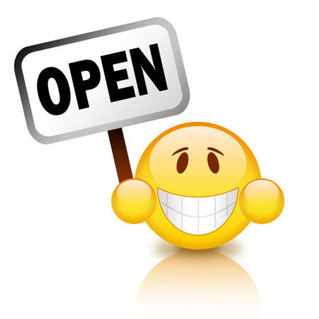 Open cartoon icon Stock Photo - 9986662