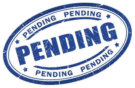 Pending stamp Stock Photo - 9986714