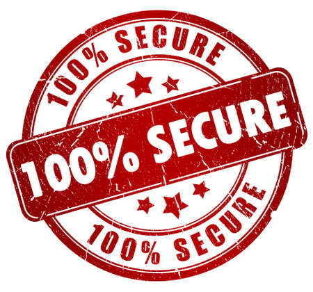 Secure stamp Stock Photo - 9986718