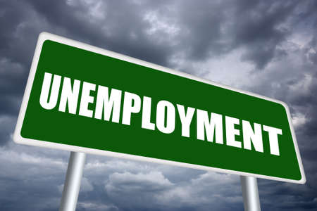 Werkloosheid teken Stockfoto