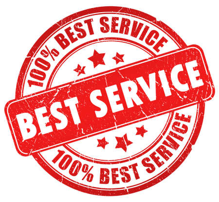 quality service: Best service stamp