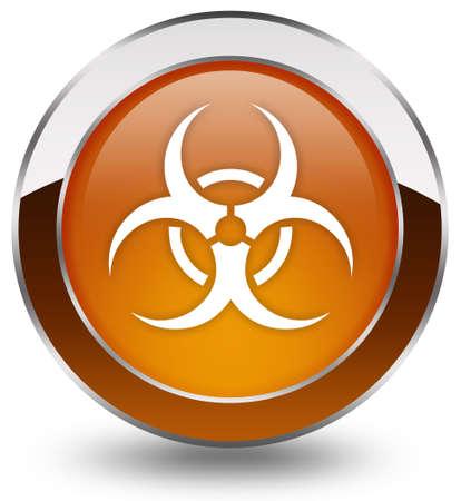 residuos toxicos: Botón de Biohazard Foto de archivo