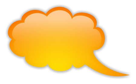 Blank orange speech bubble photo