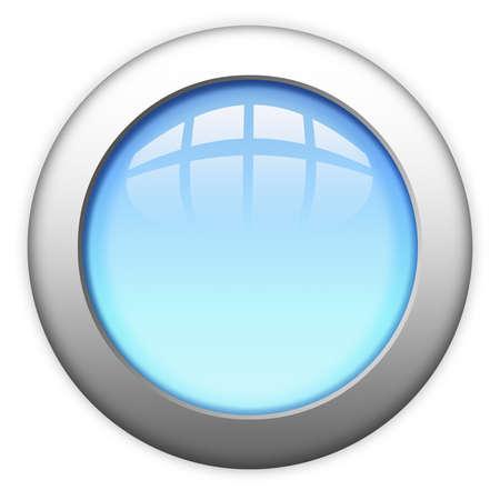 round logo: Blank metallic web button