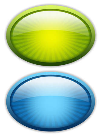 oval: Blank glossy icons set Stock Photo