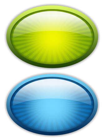 verde: Conjunto de iconos brillante en blanco