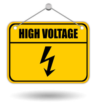 volte: High voltage sign Stock Photo