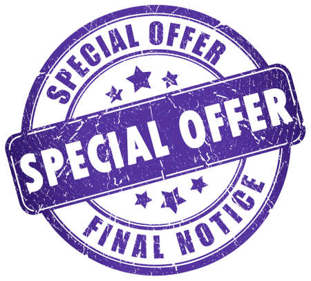 price reduction: Special offer stamp