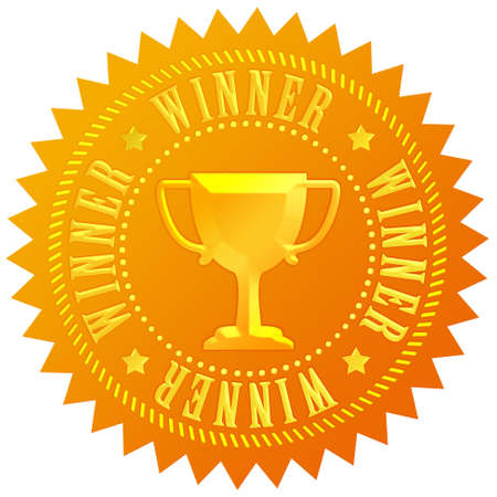 achievement clip art: Winner gold medal Stock Photo