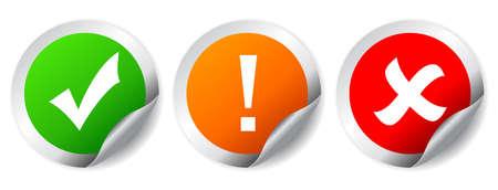 tick: Vector conjunto de etiquetas de seguridad