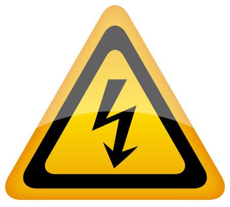 spannung: Vector Hochspannung Schild, eps10