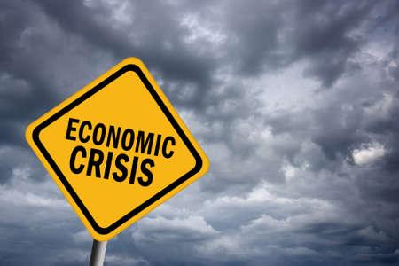 Economic crisis sign photo