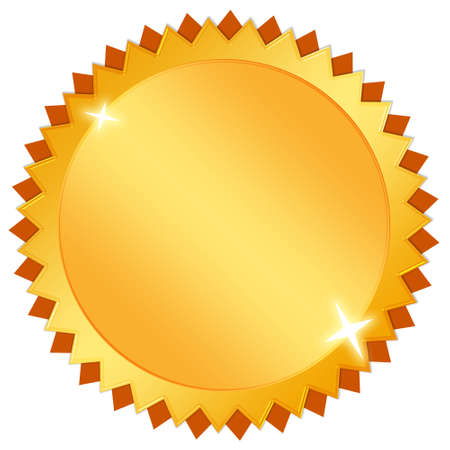 Blank gold certificate icon Stock Photo - 10327466