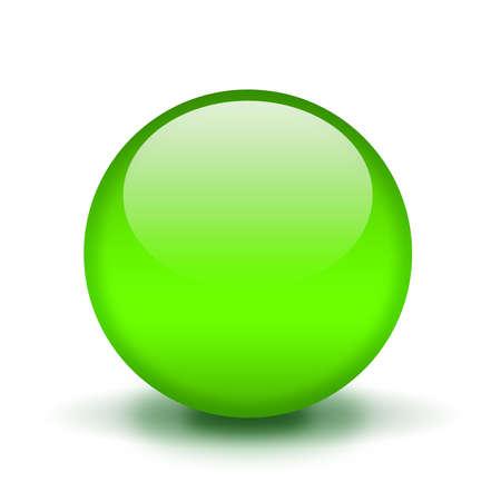 orb: Green shiny ball