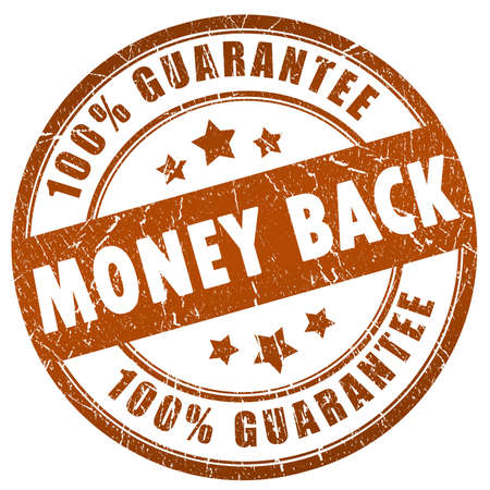 Money back grunge stamp photo