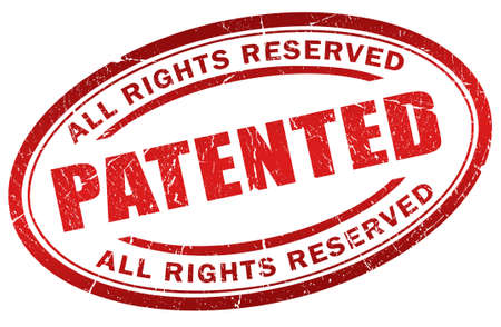 reserved: Patented stamp Stock Photo