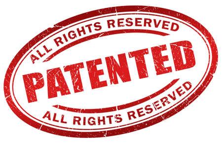 certification: Sello patentado Foto de archivo
