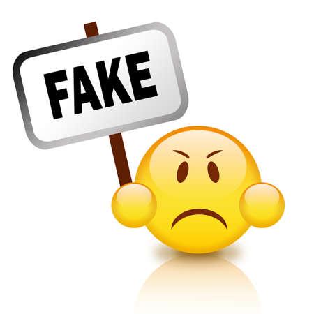 Fake sign Stock Photo - 10327464