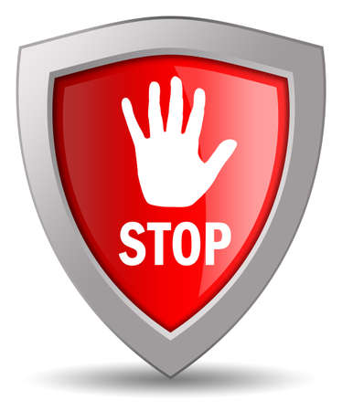 Stop shield icon photo