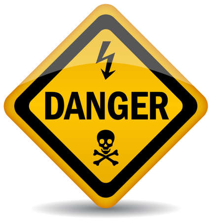 high voltage sign:  danger warning sign