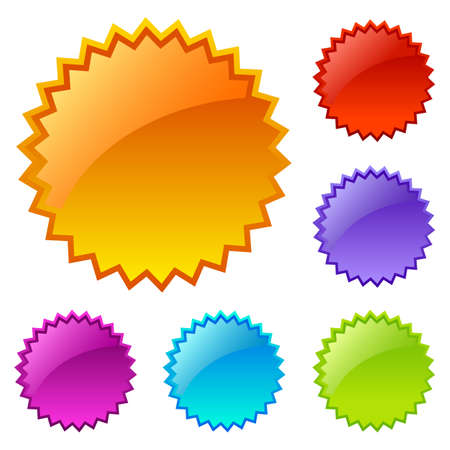 blank colored web icons Ilustrace