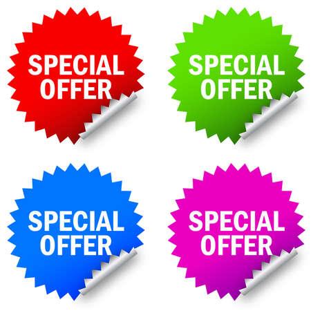 offerta speciale: offerta speciale etichetta Vettoriali